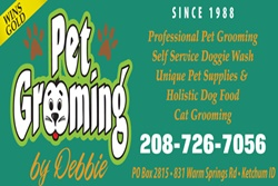 pet grooming by debbie sign, sun valley vets